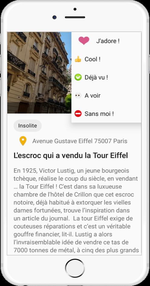 Application Mappiness emoji des pins