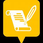Icône légende placée sur la carte de l'application Mappiness