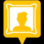 icône musée placée sur la carte de l'application Mappiness