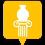 Icône sculpture placée sur la carte de l'application Mappiness