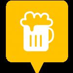 Icône bar placée sur la carte de l'application Mappiness